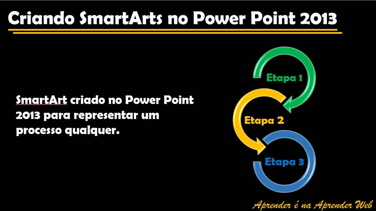 criar diagramas utilizando SmartArts