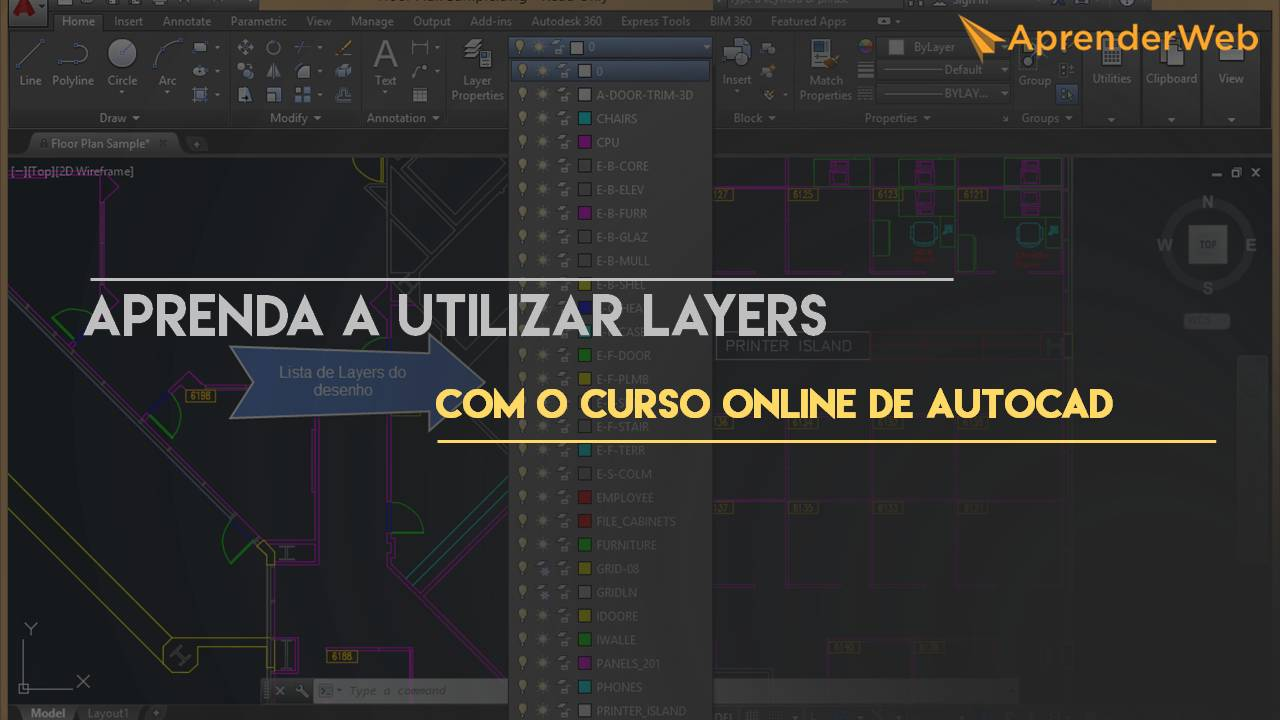 Layers com o curso online de autocad 2015