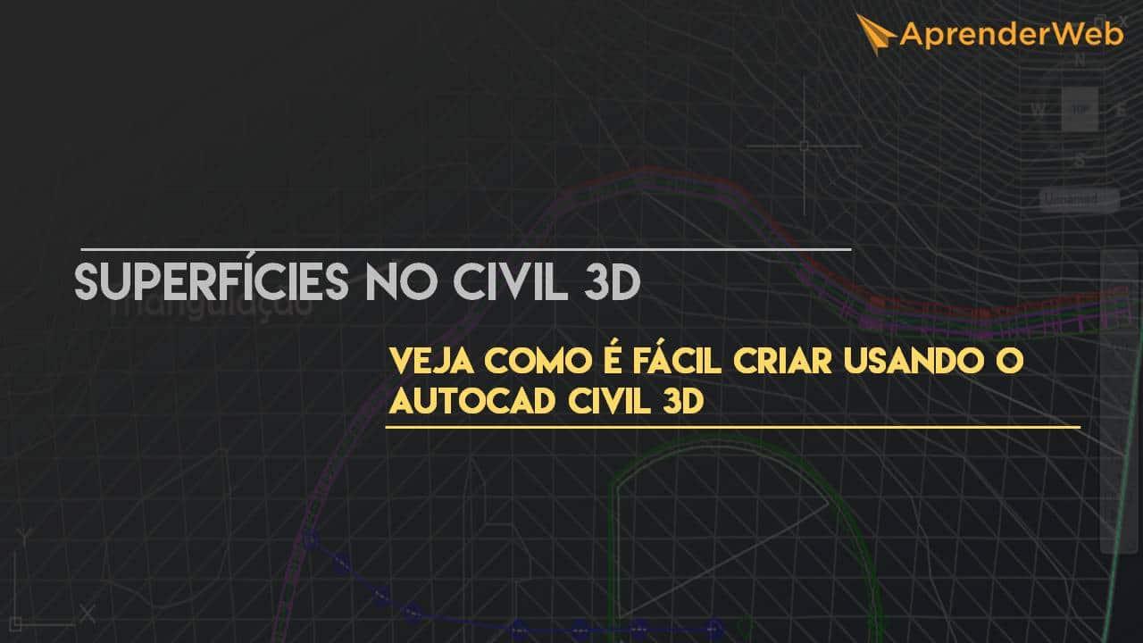 Superfícies no AutoCAD Civil 3D