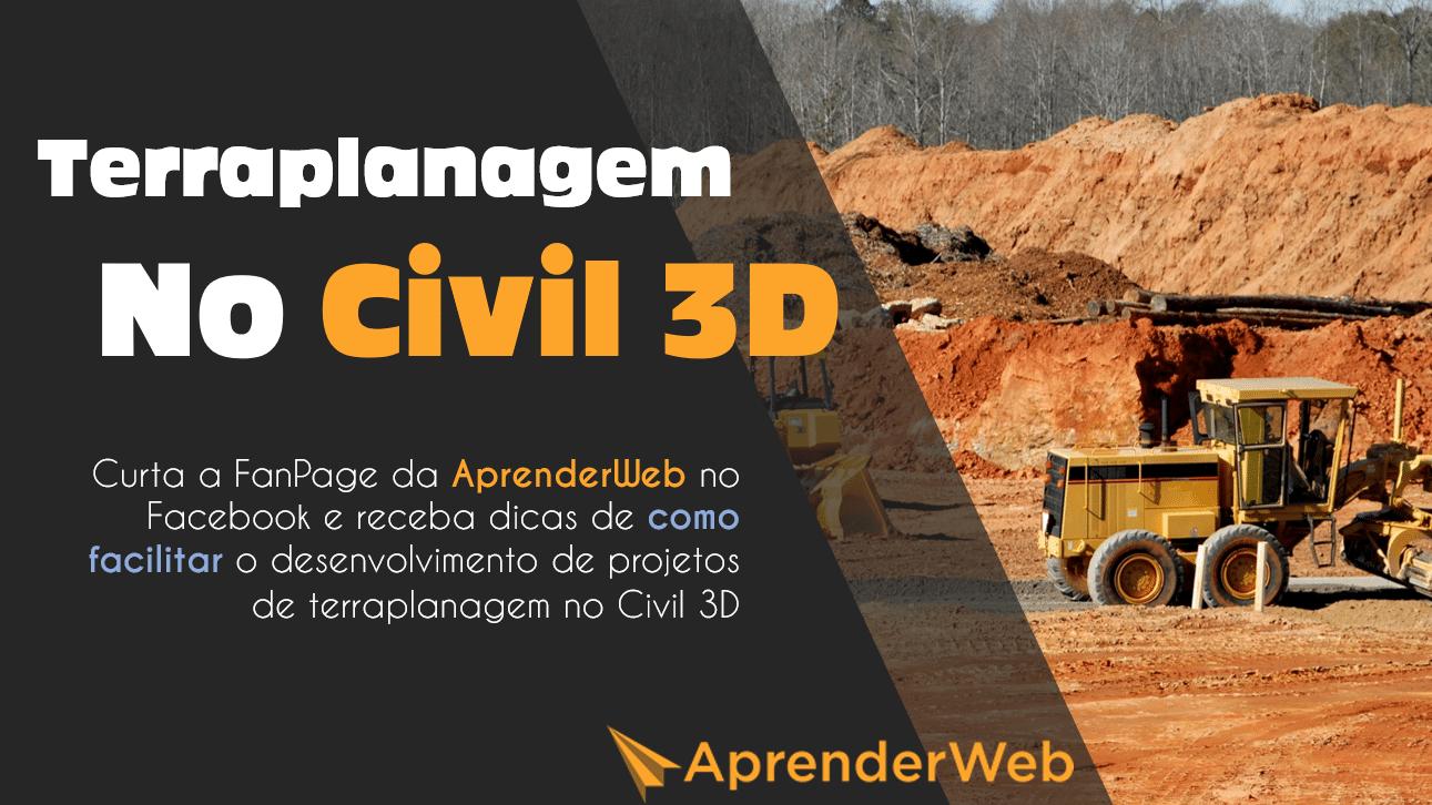 dica 1 em projetos de terraplenagem no civil 3d