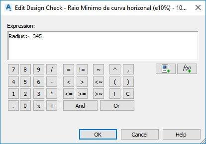 Parâmetro inserido no Civil 3D para utilizar no Country Kit Brazil.