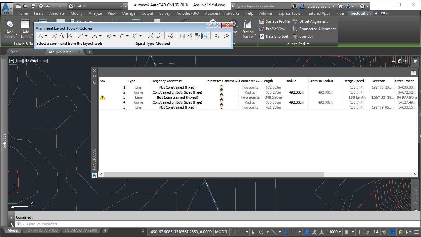Visualizando os parâmetros de um Alinhamento utilizando o Country Kit Brazil